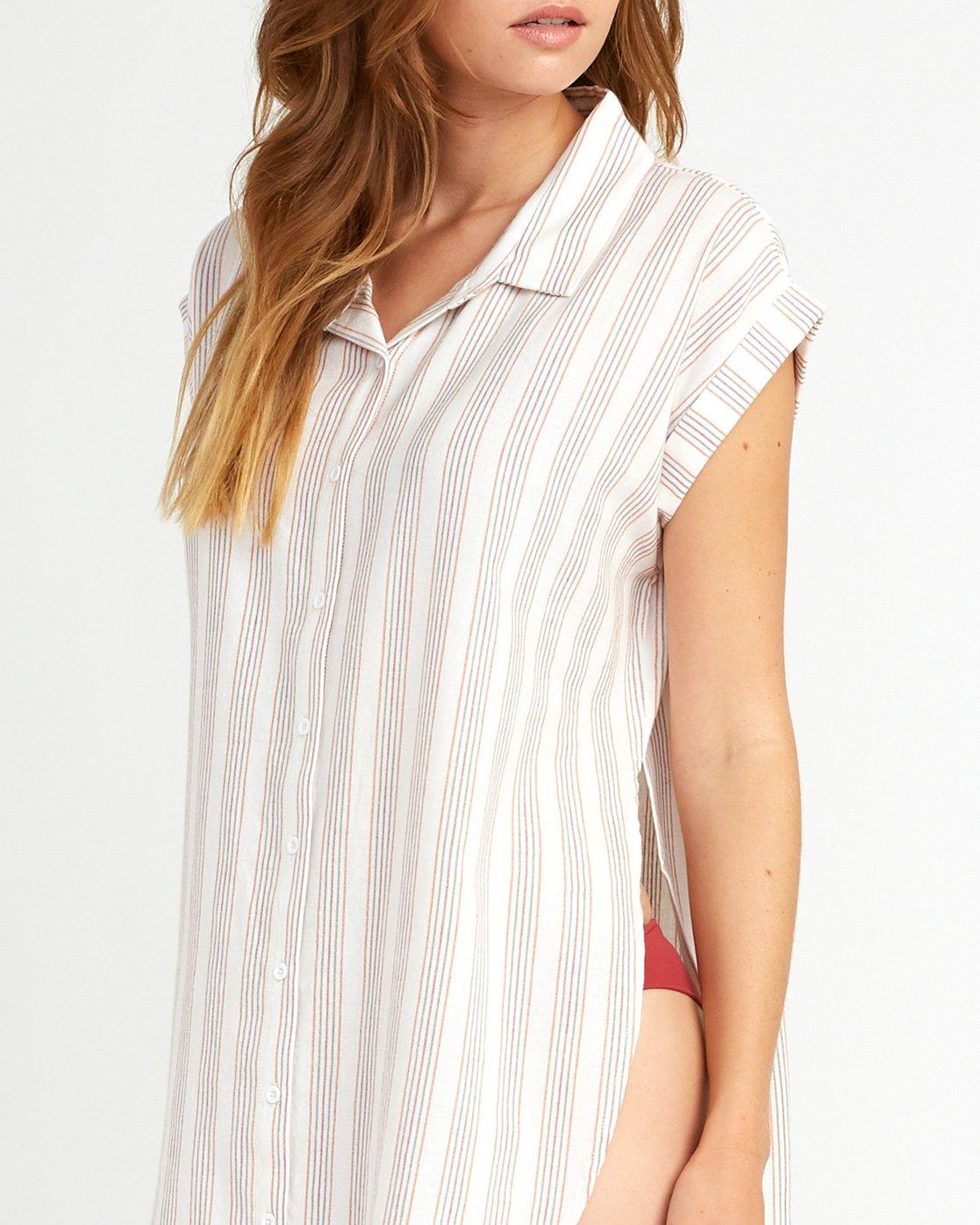 3 Sand Dollar Shirt Dress White XC05URSD RVCA