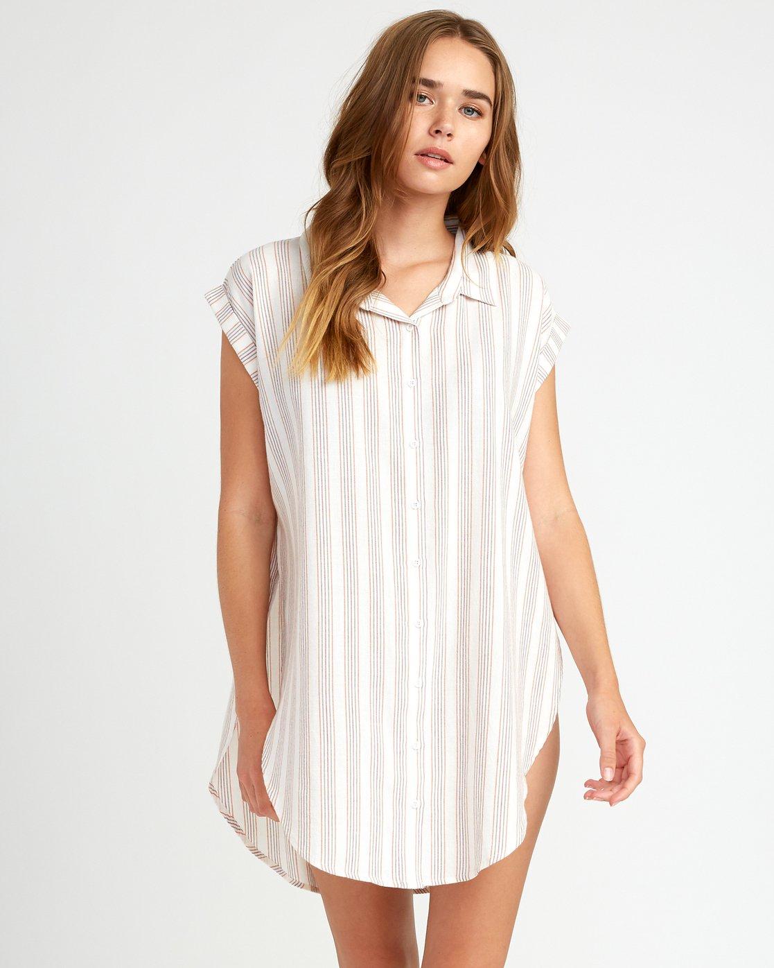 0 Sand Dollar Shirt Dress White XC05URSD RVCA