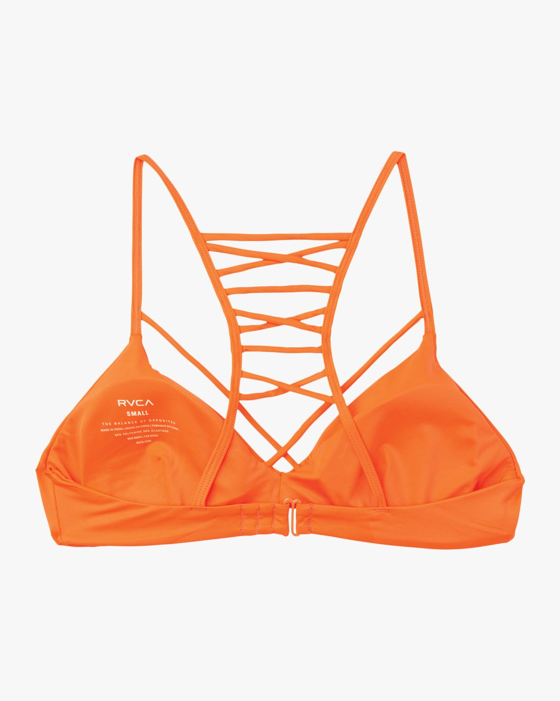 6 Solid Strappy Bralette Bikini Top Red XT01NRSB RVCA