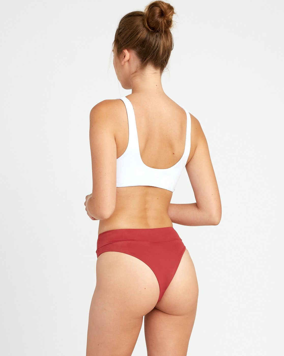 2 Solid Bikini Crop Top White XT01TRCT RVCA