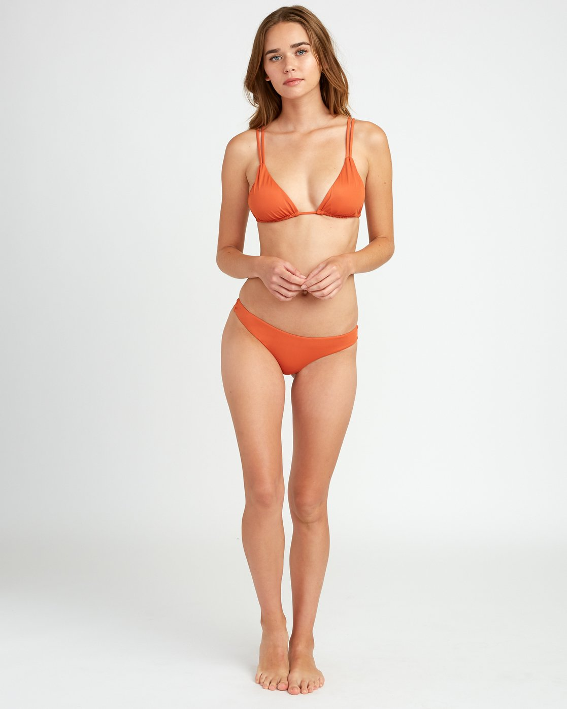 4 Solid Tri Bikini Top Yellow XT01URSO RVCA