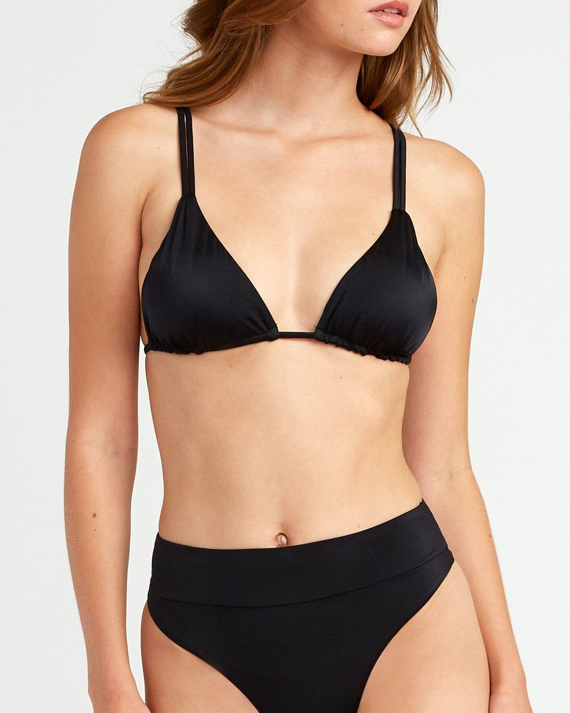 3 Solid Tri Bikini Top Black XT01URSO RVCA