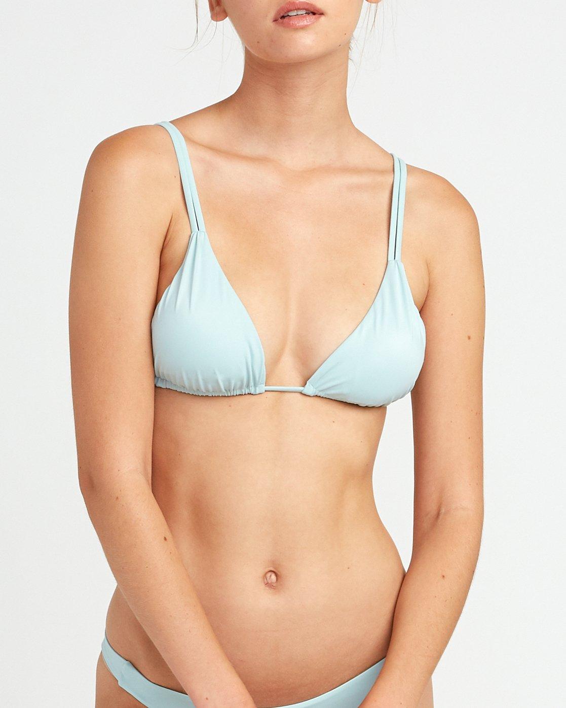 3 Solid Tri Bikini Top Beige XT01URSO RVCA
