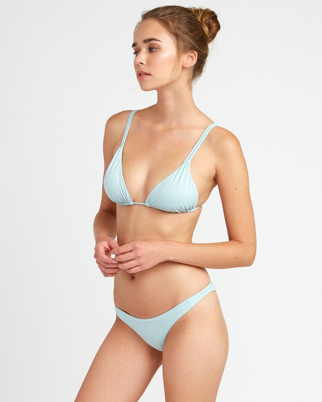 1 Solid Tri Bikini Top Beige XT01URSO RVCA