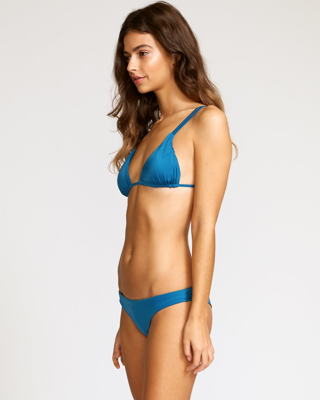 1 Solid Tri Bikini Top Blue XT01URSO RVCA