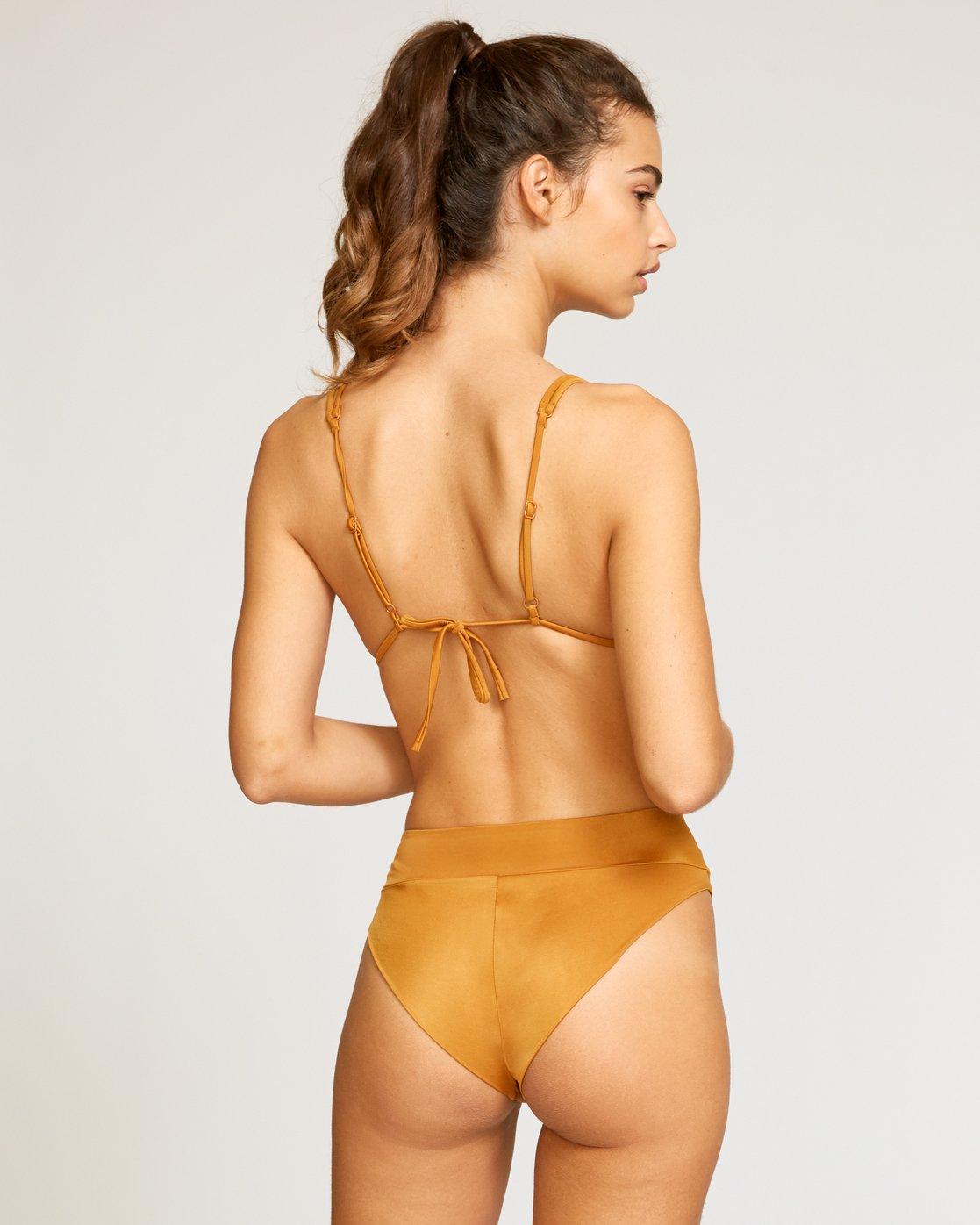 2 Solid Tri Bikini Top Red XT01URSO RVCA