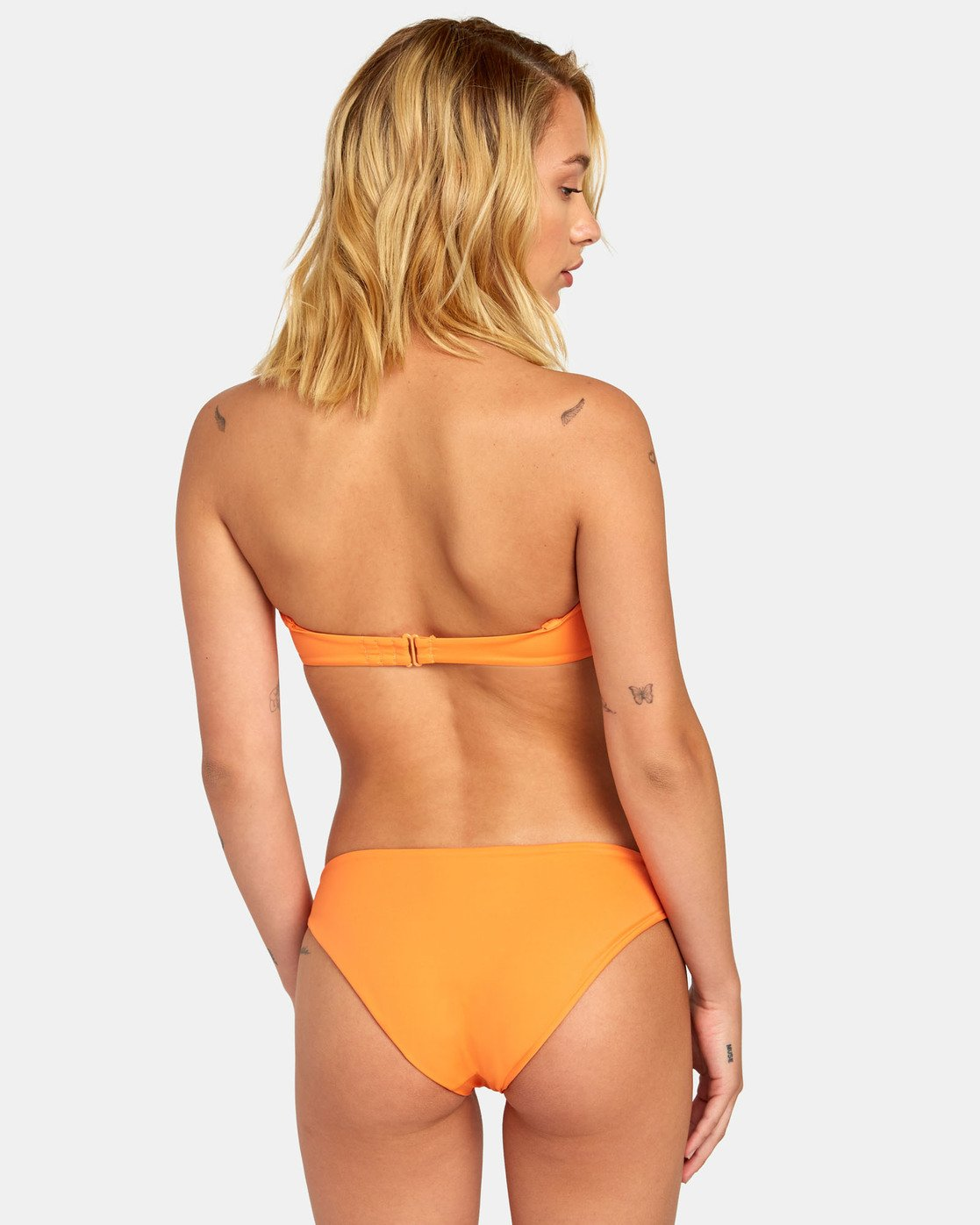 2 SOLID BANDEAU BIKINI TOP Orange XT01WRSB RVCA