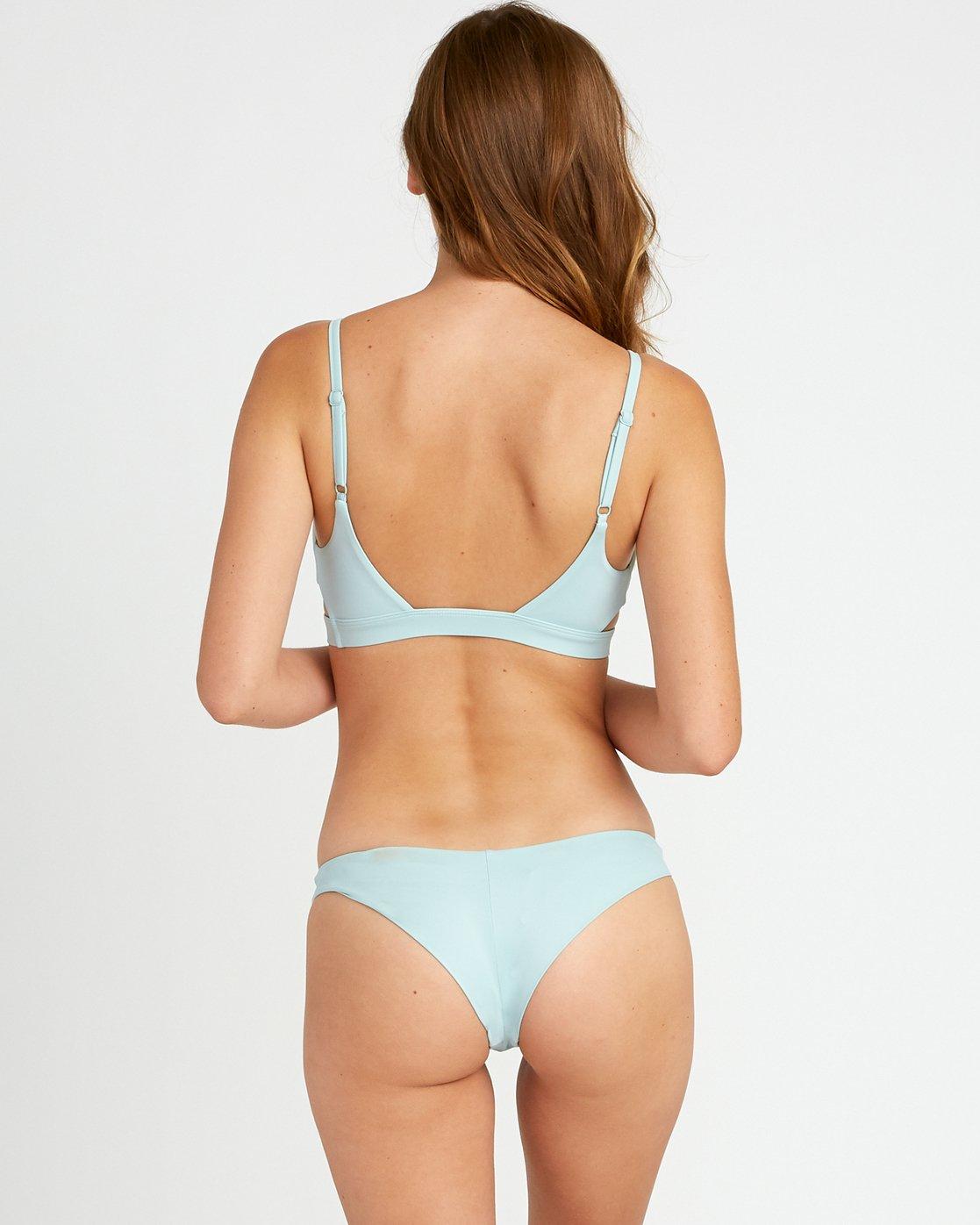 2 Solid Knot Bralette Bikini Top Beige XT02URST RVCA