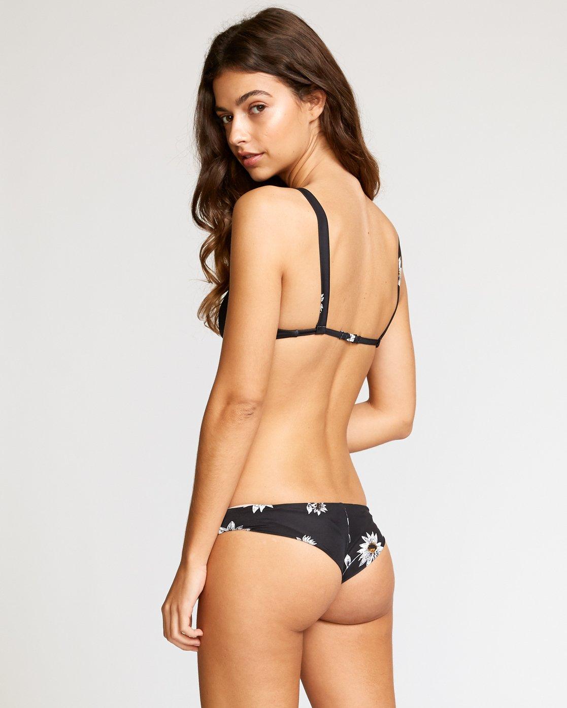 3 Downtown Floral Bikini Top Black XT05VRDT RVCA