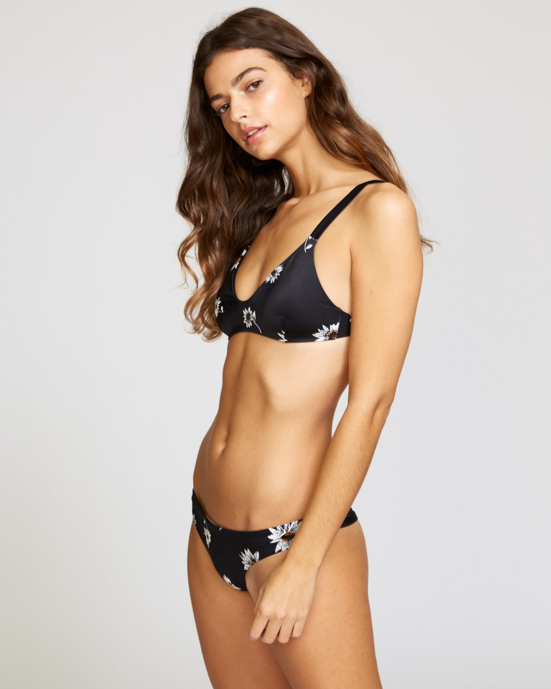 2 Downtown Floral Bikini Top Black XT05VRDT RVCA