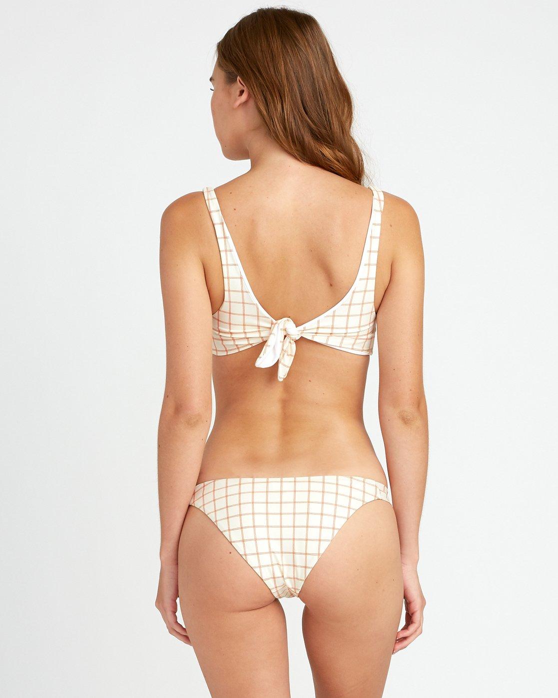 3 KLW Grid Knot Bikini Top White XT06URKT RVCA