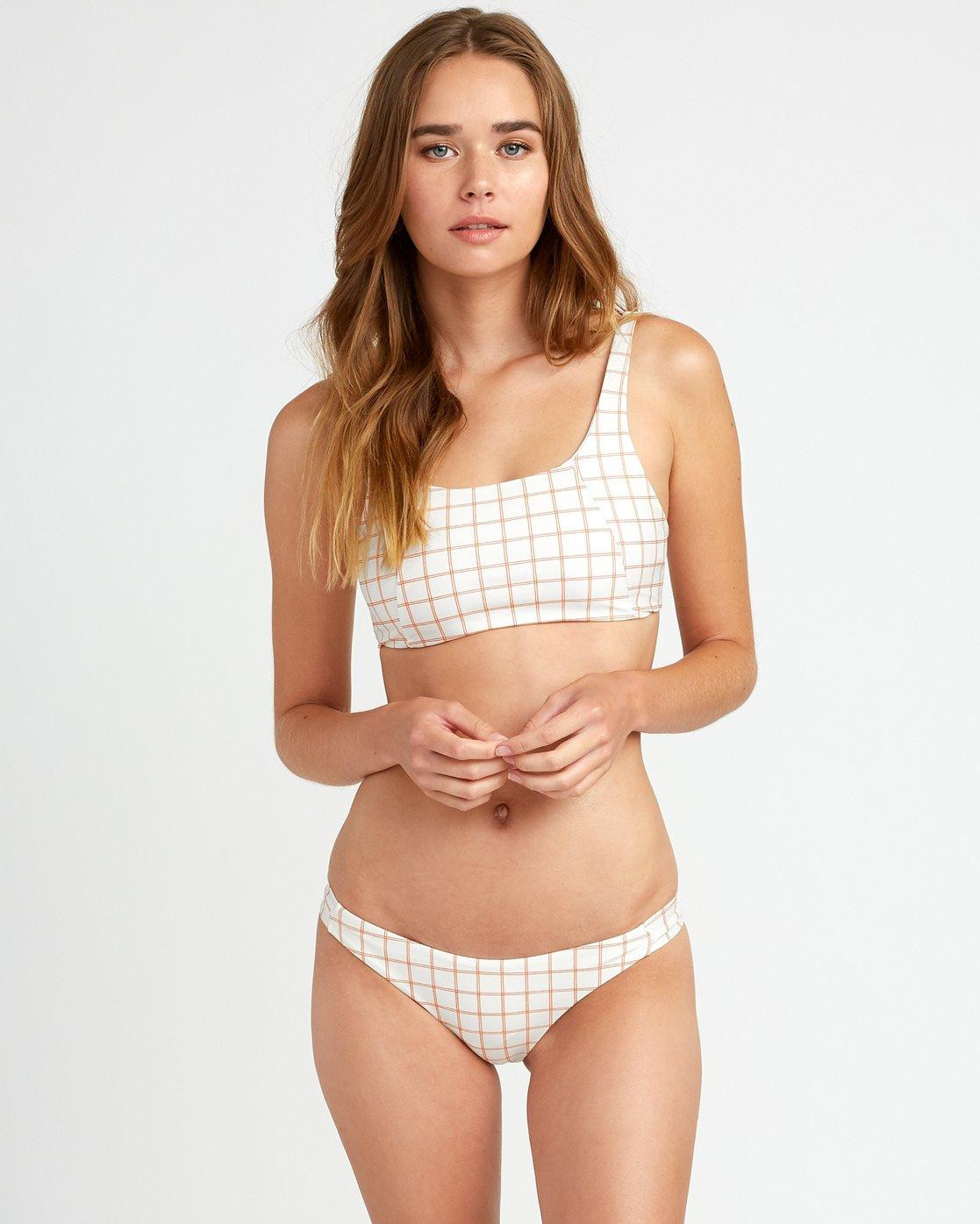 0 KLW Grid Knot Bikini Top White XT06URKT RVCA