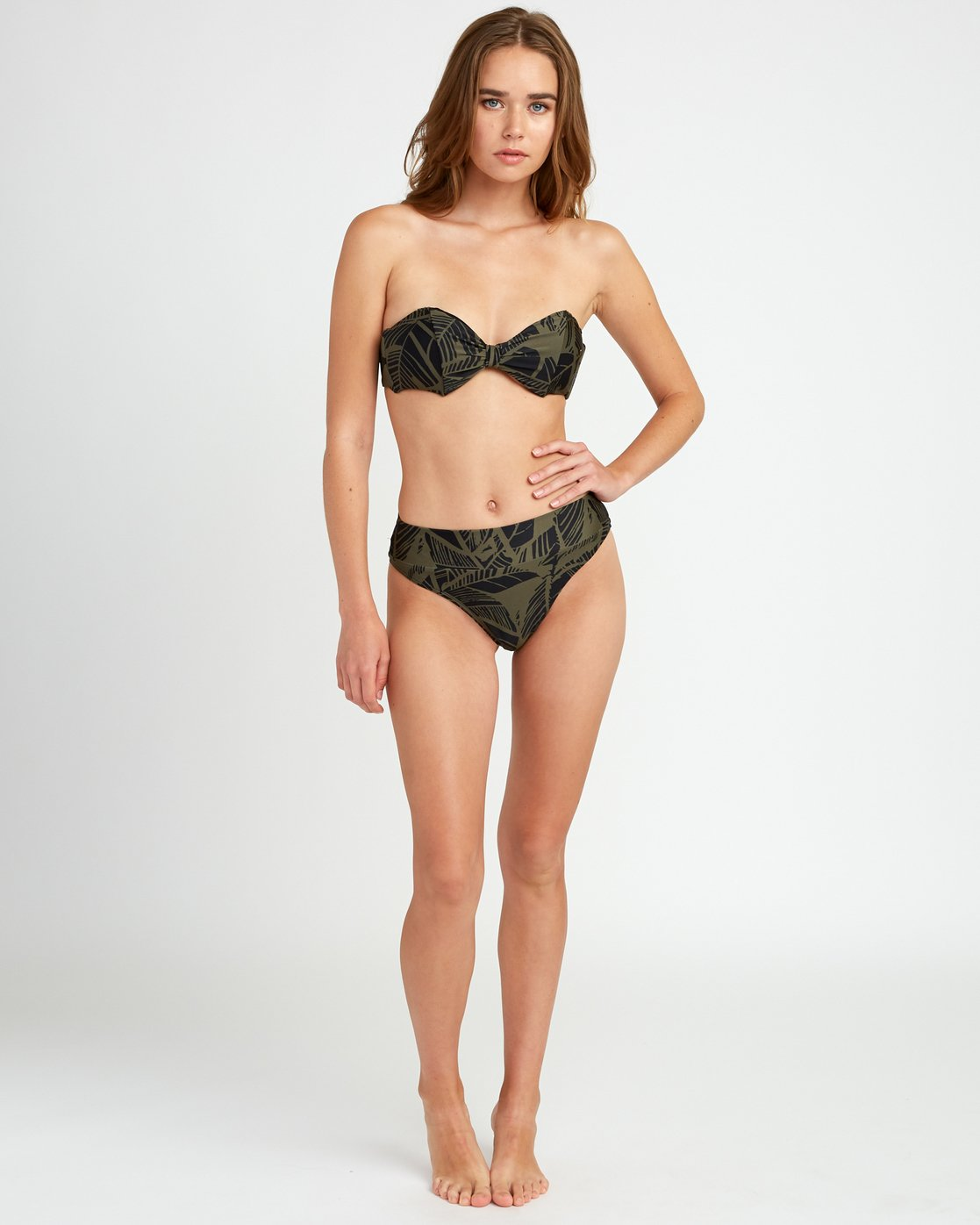4 Harlo Bandeau Bikini Top Green XT10URHB RVCA