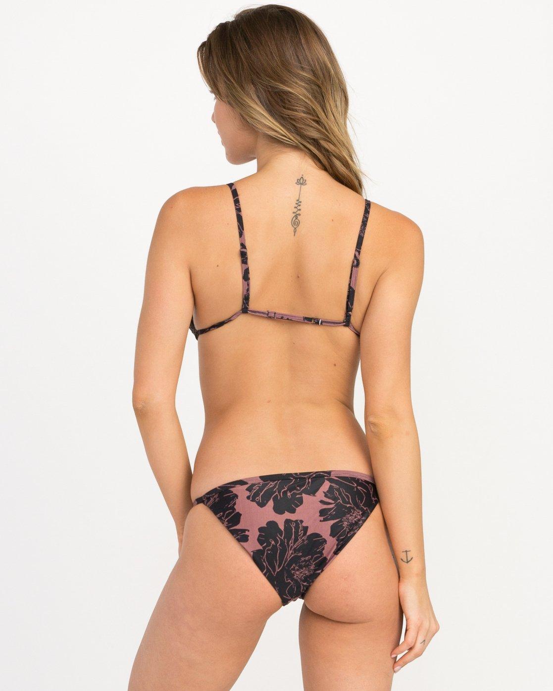 2 Peony Floral Triangle Bikini Top Pink XT12QRPT RVCA