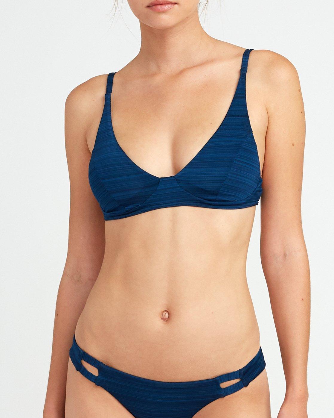 3 Rowan Bralette Bikini Top Blue XT18URRB RVCA