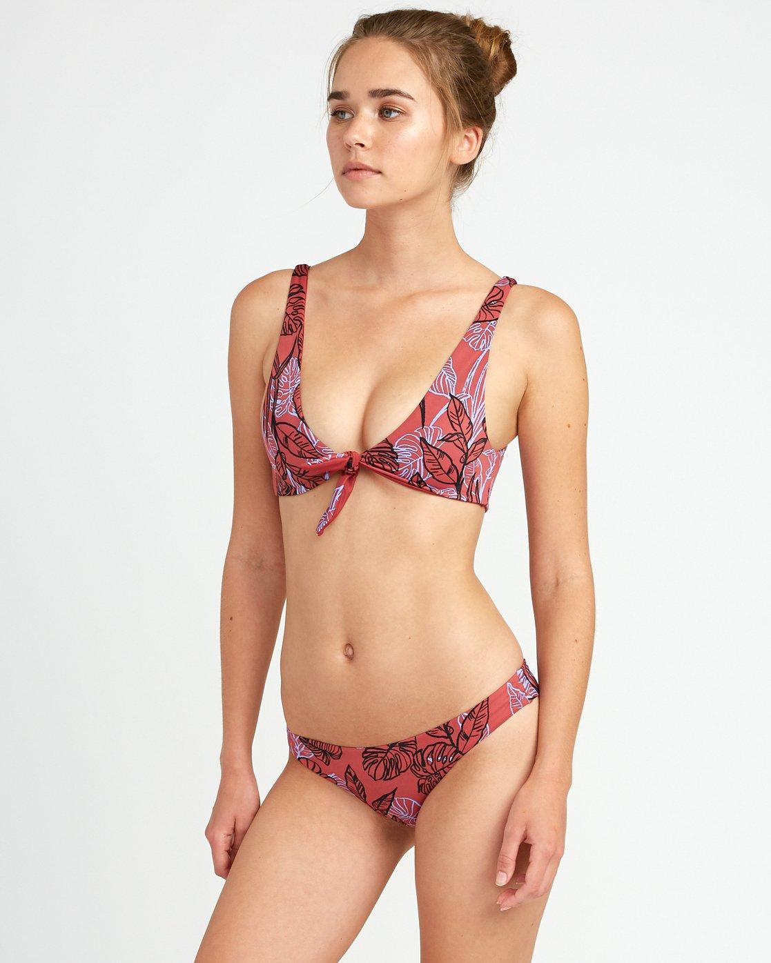 2 Tropic Punch Knot Bikini Top Red XT20URTT RVCA