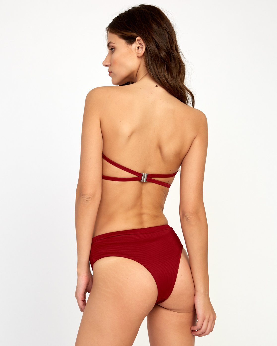 3 Fade Out Bandeau Bikini Top Red XT24VRFB RVCA