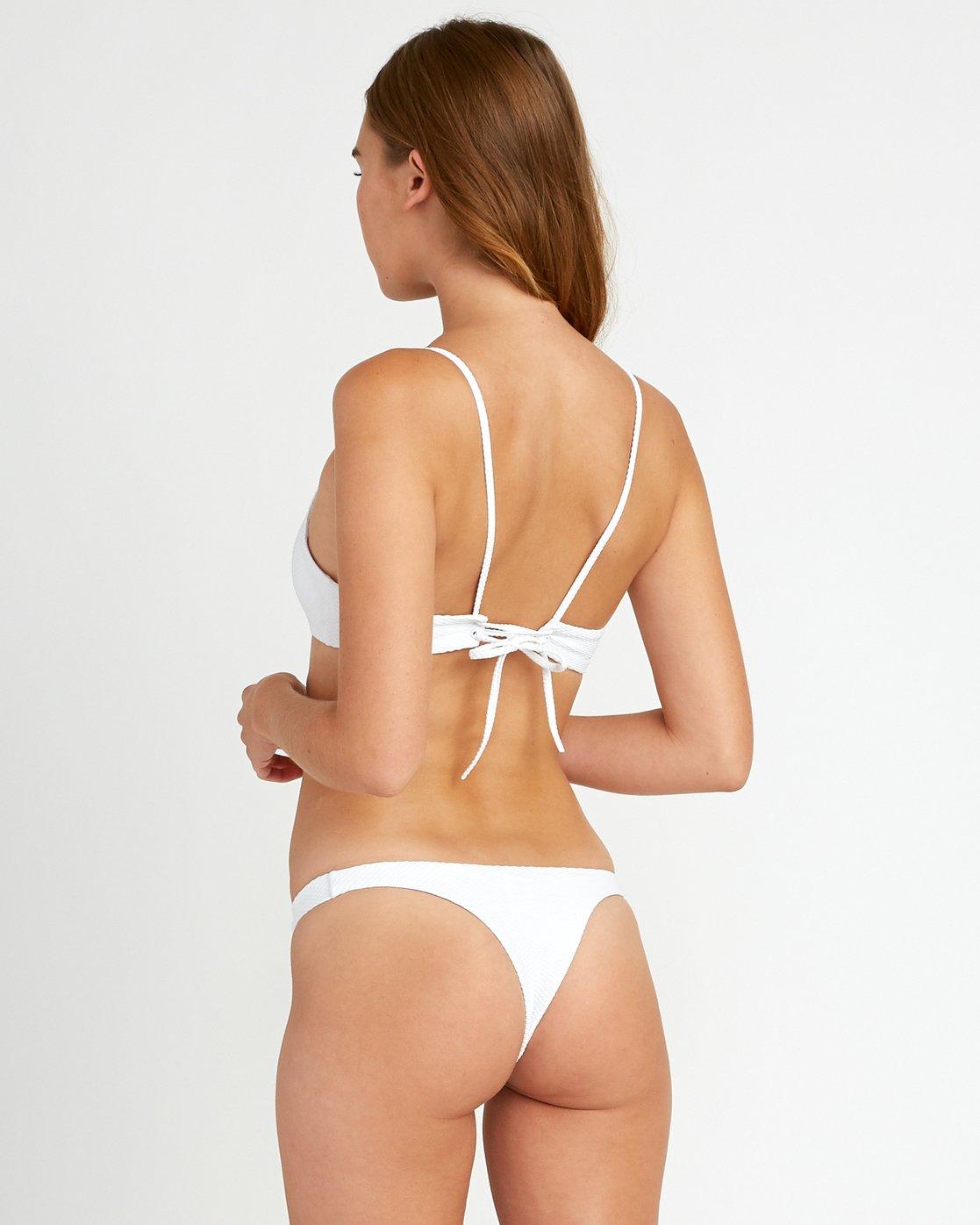 2 White Noise Bralette Bikini Top White XT53URWB RVCA