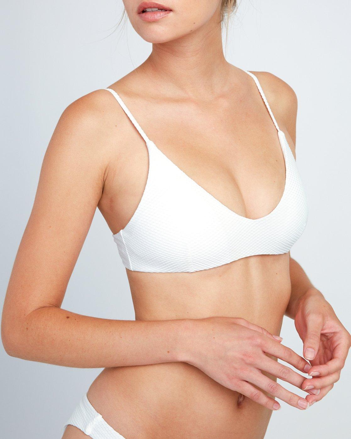 3 White Noise Bralette Bikini Top White XT53URWB RVCA