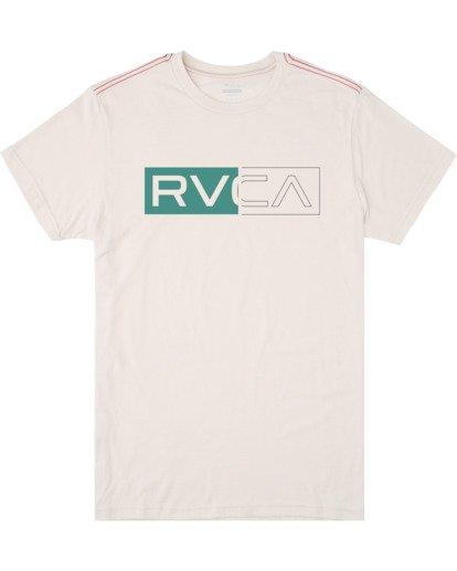 0 BOYS DIVIDER SHORT SLEEVE TEE  AVBZT00103 RVCA