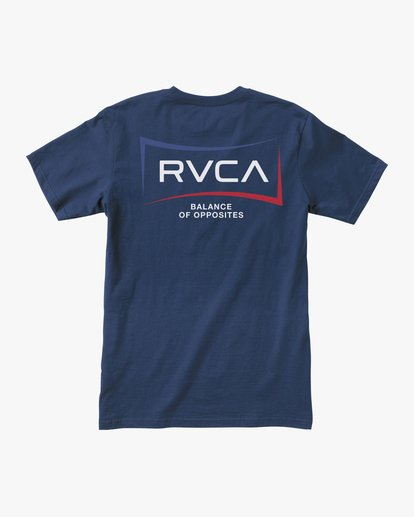 1 BOY'S RETURN SHORT SLEEVE TEE Blue AVBZT00142 RVCA
