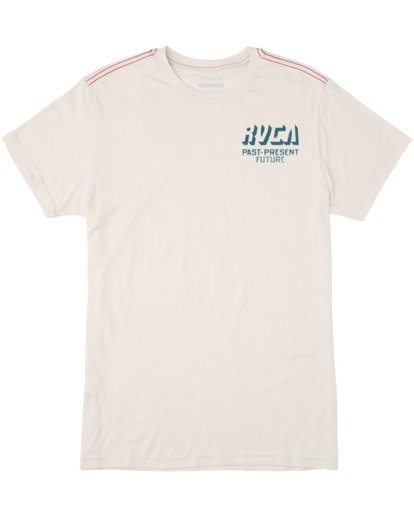 0 Boy's Trax Short Sleeve Tee White AVBZT00167 RVCA