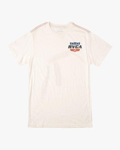 0 Boy's Rodeo Team Short Sleeve Tee White AVBZT00171 RVCA
