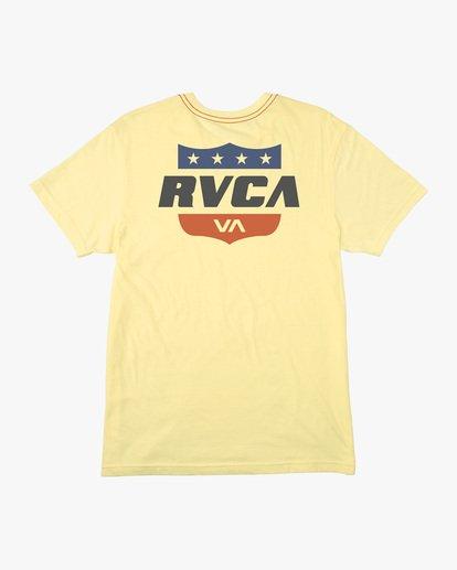 1 Boy's Rodeo Team Short Sleeve Tee Yellow AVBZT00171 RVCA