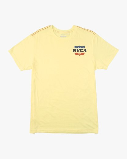 0 Boy's Rodeo Team Short Sleeve Tee Yellow AVBZT00171 RVCA