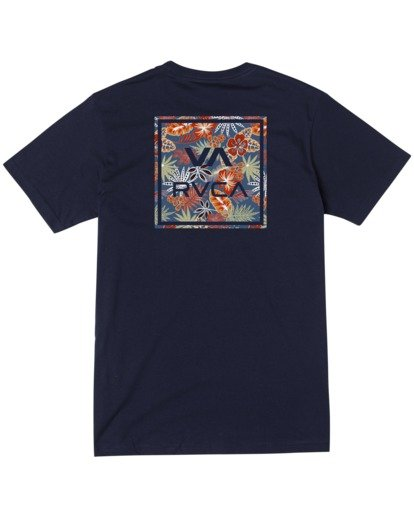 1 Boy's VA All The Way Short Sleeve Tee Blue AVBZT00180 RVCA