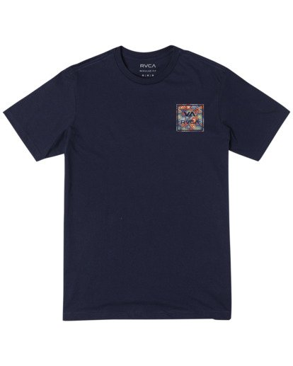 0 Boy's VA All The Way Short Sleeve Tee Blue AVBZT00180 RVCA