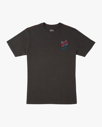 0 DMOTE | Boy's Mascot Short Sleeve Tee Black AVBZT00210 RVCA