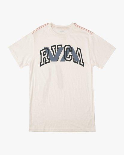 0 Boy's Double Major Short Sleeve Tee White AVBZT00212 RVCA