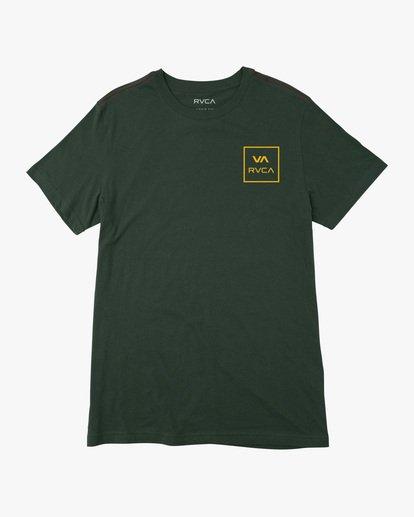 0 Boy's VA All The Way Short Sleeve Tee Green AVBZT00213 RVCA