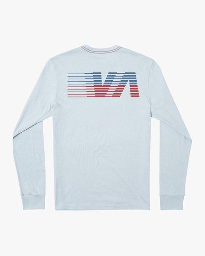 1 Boy's LA '84 Long Sleeve Tee Blue AVBZT00217 RVCA