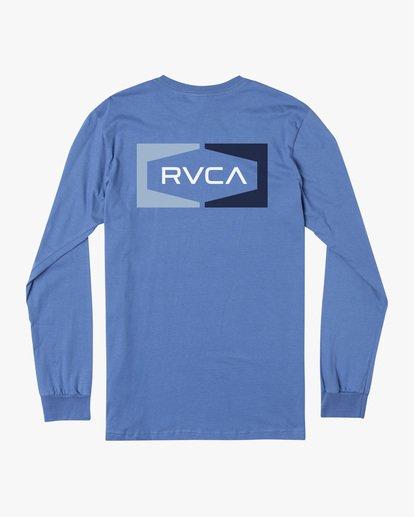 1 Boy's Bracket Long Sleeve Tee Blue AVBZT00220 RVCA