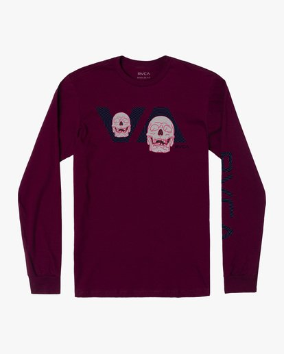 0 Boy's Skully D Long Sleeve Tee Purple AVBZT00230 RVCA