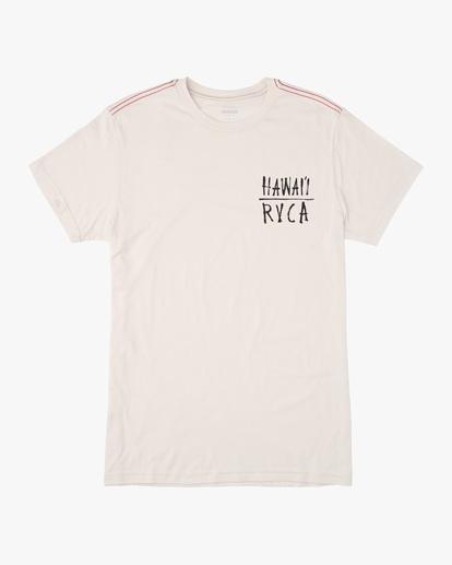 0 Ben Horton   Boy's RVCA Hawaii Koi Short Sleeve Tee White AVBZT00241 RVCA
