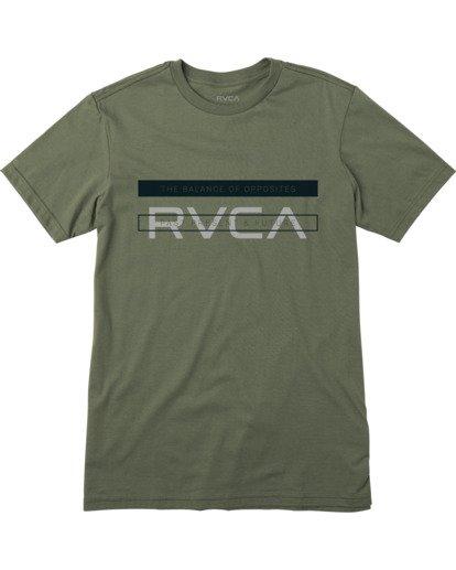 0 VA Sport| Boy's Two Bar Short Sleeve Tee Green AVBZT00243 RVCA