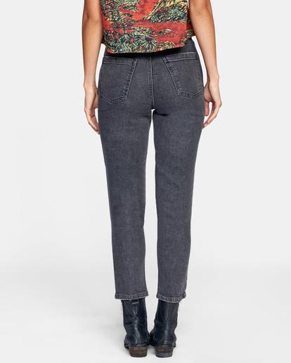 1 Stan High-Rise Denim Pants Beige AVJDP00102 RVCA