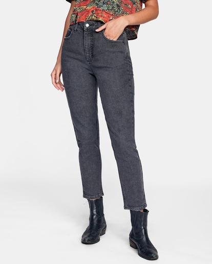 0 Stan High-Rise Denim Pants Beige AVJDP00102 RVCA
