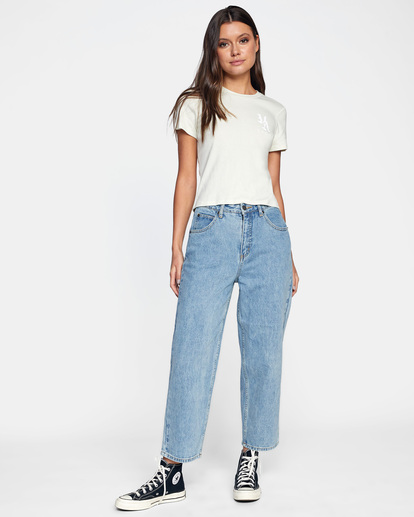 4 Daisy High-Rise Denim Pants Multicolor AVJDP00103 RVCA