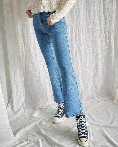 1 Camille Rowe | Livin Denim Pants Blue AVJDP00104 RVCA