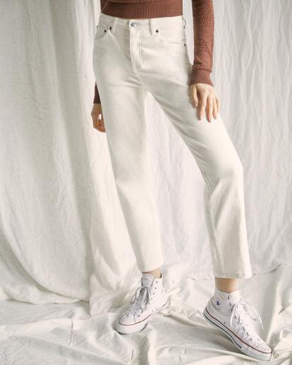 1 Camille Rowe | Pops Denim Pants White AVJDP00105 RVCA