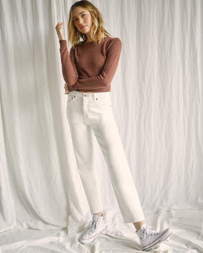 4 Camille Rowe | Pops Denim Pants White AVJDP00105 RVCA