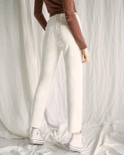 5 Camille Rowe | Pops Denim Pants White AVJDP00105 RVCA