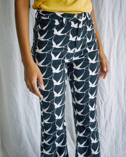 3 Camille Rowe | Livin Corduroy Pants Black AVJDP00106 RVCA