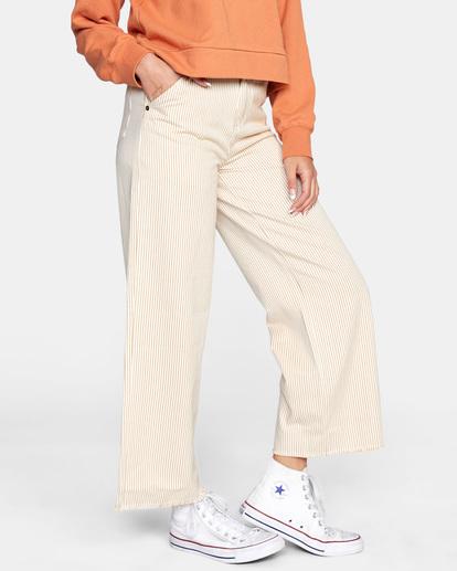 4 Fresh Prince Cropped Corduroy Pants Yellow AVJDP00107 RVCA