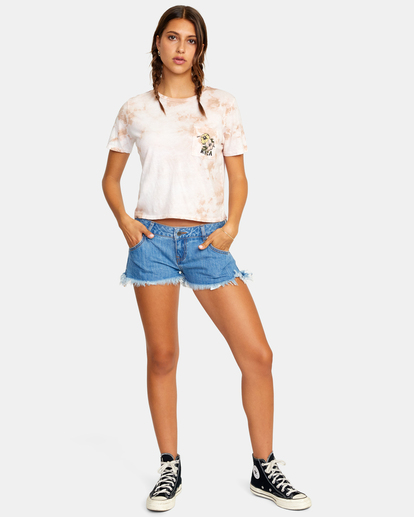 2 Traveller Denim Shorts White AVJDS00103 RVCA
