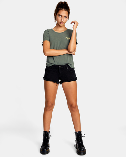 5 Traveller Denim Shorts Black AVJDS00103 RVCA